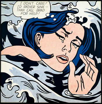 Lichtenstein-WomanDrowning-Original